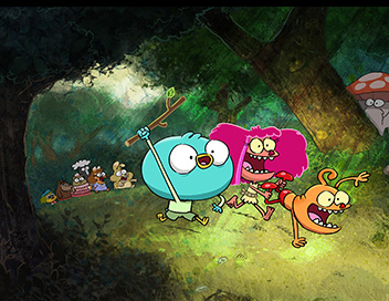 Harvey Beaks - Harvey se bat contre Kratz